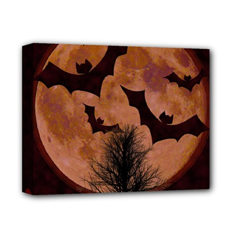 Halloween Card Scrapbook Page Deluxe Canvas 14  X 11