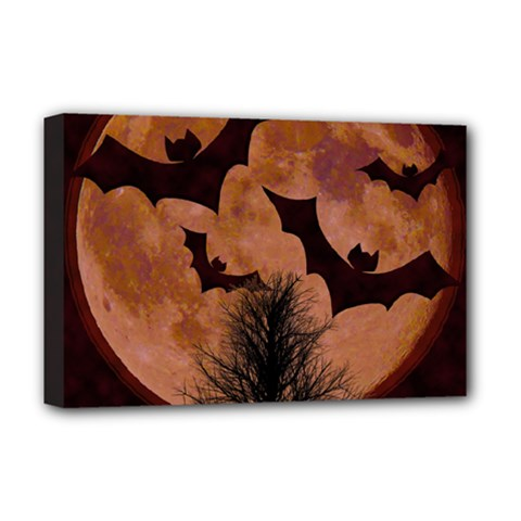 Halloween Card Scrapbook Page Deluxe Canvas 18  X 12