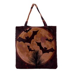 Halloween Card Scrapbook Page Grocery Tote Bag