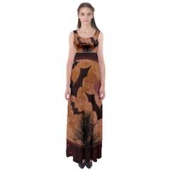Halloween Card Scrapbook Page Empire Waist Maxi Dress
