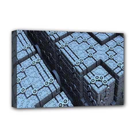 Grid Maths Geometry Design Pattern Deluxe Canvas 18  x 12