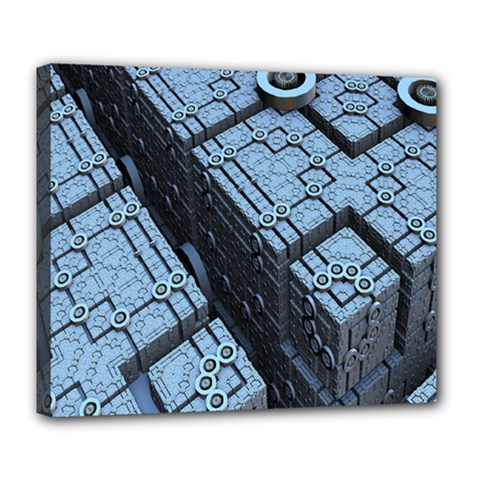 Grid Maths Geometry Design Pattern Deluxe Canvas 24  X 20