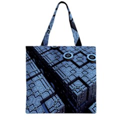 Grid Maths Geometry Design Pattern Grocery Tote Bag