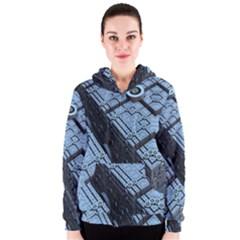 Grid Maths Geometry Design Pattern Women s Zipper Hoodie