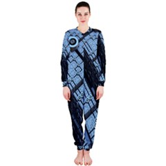 Grid Maths Geometry Design Pattern Onepiece Jumpsuit (ladies)