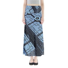 Grid Maths Geometry Design Pattern Maxi Skirts