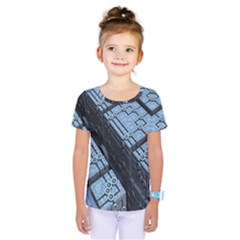 Grid Maths Geometry Design Pattern Kids  One Piece Tee