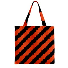 Halloween Background Zipper Grocery Tote Bag