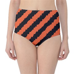 Halloween Background High Waist Bikini Bottoms