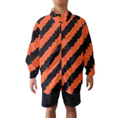 Halloween Background Wind Breaker (Kids)
