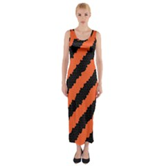Halloween Background Fitted Maxi Dress