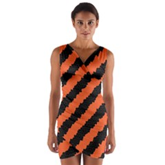 Halloween Background Wrap Front Bodycon Dress