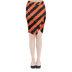 Halloween Background Midi Wrap Pencil Skirt
