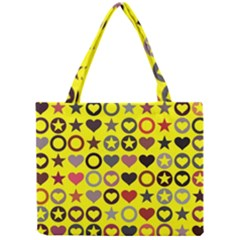 Heart Circle Star Mini Tote Bag