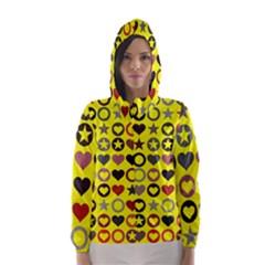 Heart Circle Star Hooded Wind Breaker (women)