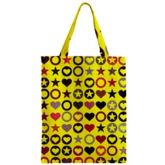 Heart Circle Star Zipper Classic Tote Bag