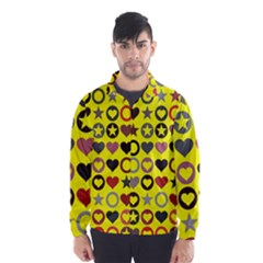 Heart Circle Star Wind Breaker (Men)