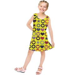 Heart Circle Star Kids  Tunic Dress