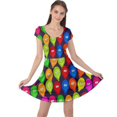 Happy Balloons Cap Sleeve Dresses