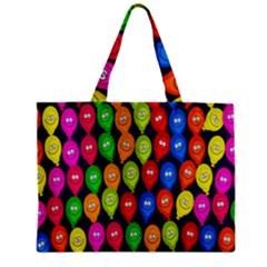 Happy Balloons Zipper Mini Tote Bag