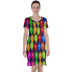 Happy Balloons Short Sleeve Nightdress