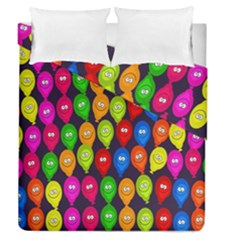 Happy Balloons Duvet Cover Double Side (queen Size)
