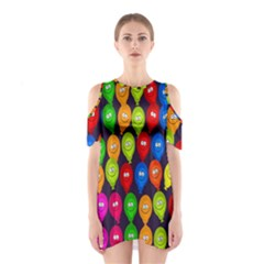 Happy Balloons Shoulder Cutout One Piece