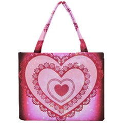 Heart Background Lace Mini Tote Bag