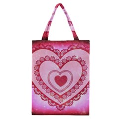 Heart Background Lace Classic Tote Bag