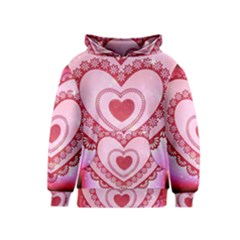 Heart Background Lace Kids  Pullover Hoodie