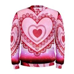 Heart Background Lace Men s Sweatshirt