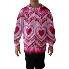 Heart Background Lace Hooded Wind Breaker (kids)