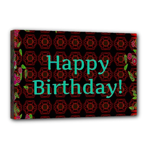 Happy Birthday! Canvas 18  x 12