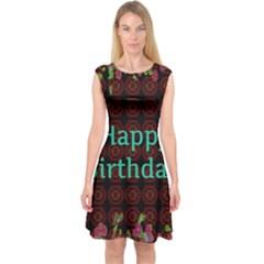 Happy Birthday! Capsleeve Midi Dress