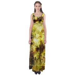 Grunge Texture Retro Design Empire Waist Maxi Dress