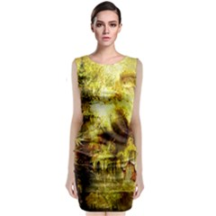Grunge Texture Retro Design Classic Sleeveless Midi Dress