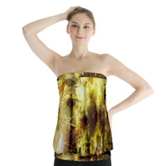 Grunge Texture Retro Design Strapless Top