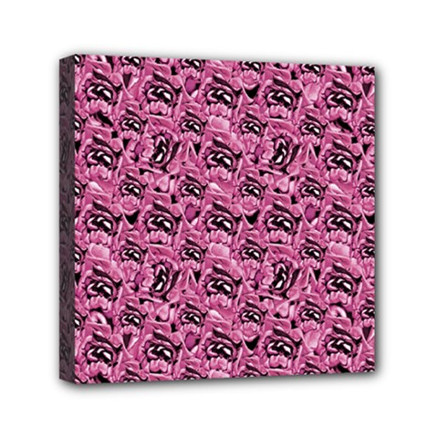 Floral Pink Collage Pattern Mini Canvas 6  X 6