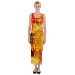 Honey Bee Takes Nectar Fitted Maxi Dress