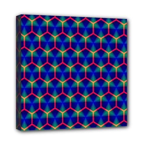 Honeycomb Fractal Art Mini Canvas 8  x 8