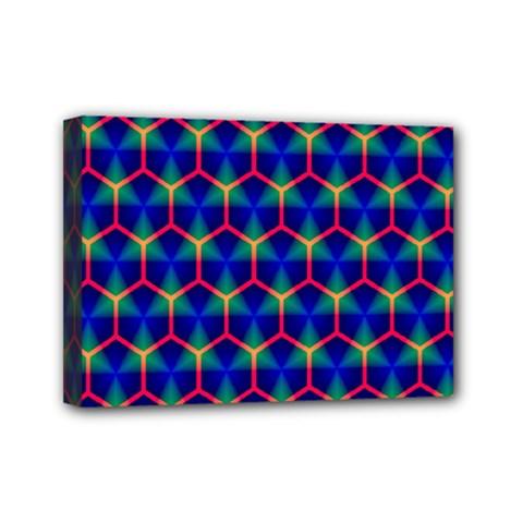 Honeycomb Fractal Art Mini Canvas 7  x 5