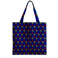 Honeycomb Fractal Art Grocery Tote Bag