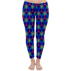Honeycomb Fractal Art Classic Winter Leggings