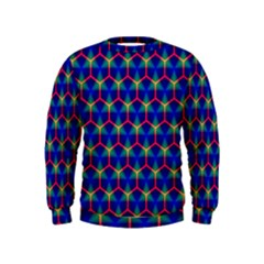 Honeycomb Fractal Art Kids  Sweatshirt