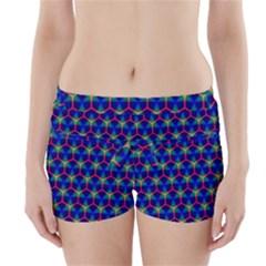 Honeycomb Fractal Art Boyleg Bikini Wrap Bottoms