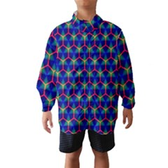 Honeycomb Fractal Art Wind Breaker (Kids)