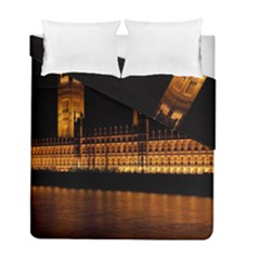 Houses Of Parliament Duvet Cover Double Side (full/ Double Size)