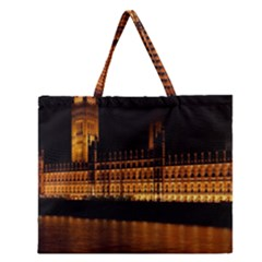 Houses Of Parliament Zipper Large Tote Bag
