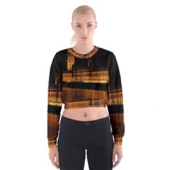Houses Of Parliament Women s Cropped Sweatshirt