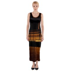 Houses Of Parliament Fitted Maxi Dress